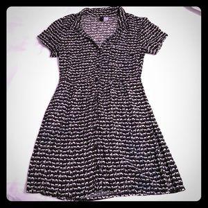Adorable Animal Print Button Down Dress